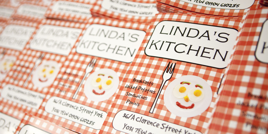 Design and Print menus and flyers for Linda\'s Kitchen by York ...